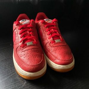 "Nike Air Force 1 Low '07 LV8 ""Red Croc"""